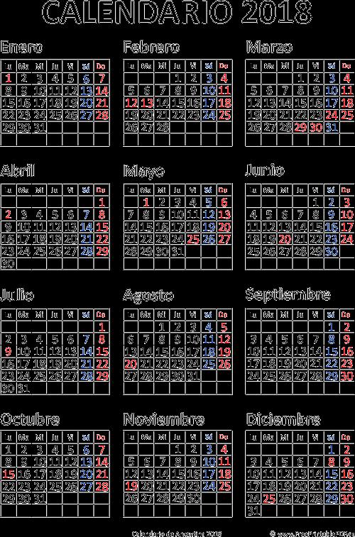 Calendario Del 2018