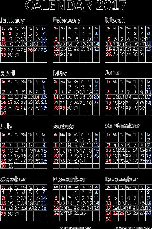 Calendar October 2017 Printable