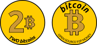 Coin 2 Bitcoins golden Superbussines