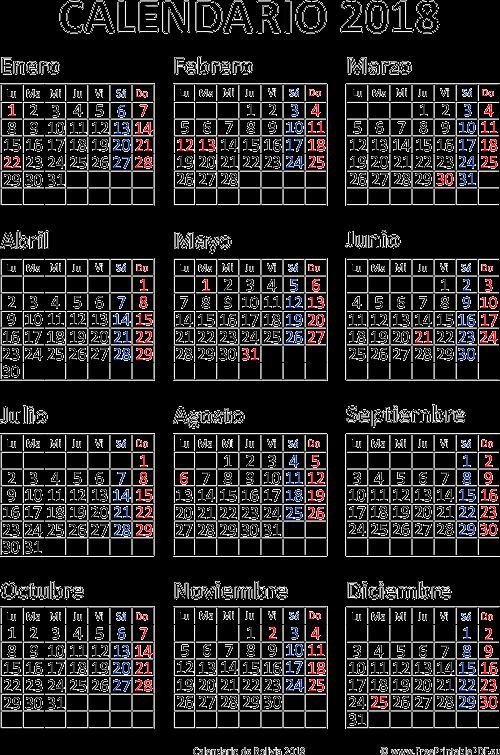 Calendarios 2018 Bolivia