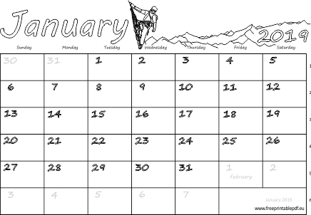 january 2019 blank with week numbers download blank calendar