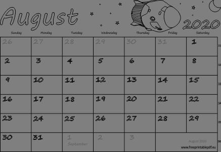 blank 2020 september calendar