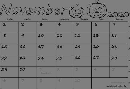 November Calendar 2020 Printable.November 2020 Australia Calendar Free Printable Pdf