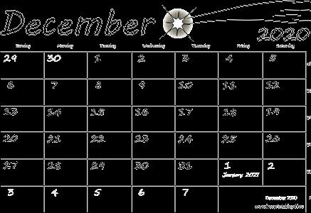Free Printable Calendar December 2020.December 2020 Usa Calendar Free Printable Pdf
