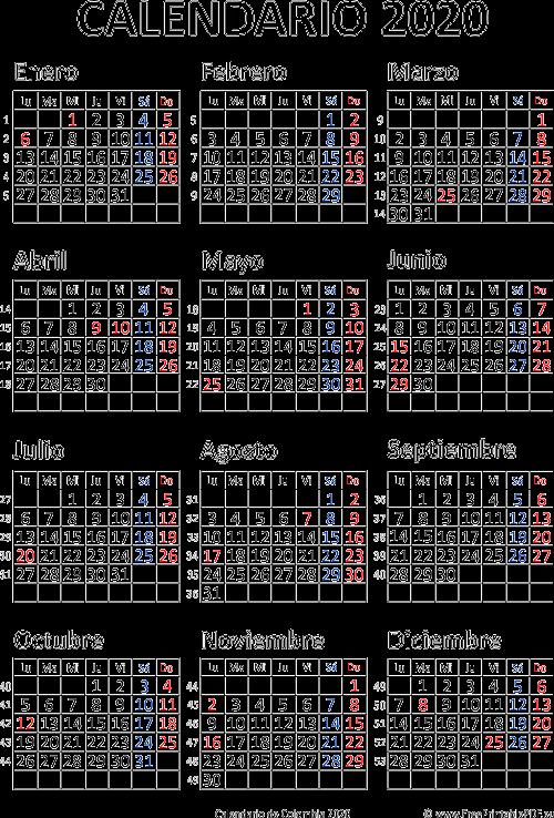 Calendario 2020 Con Foto Gratis.Calendario De Colombia 2020 Imprimir El Pdf Gratis