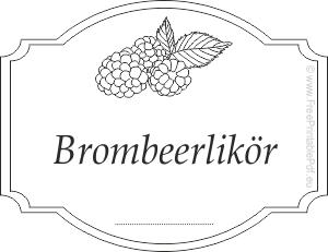 Gratis Etiketten Vorlagen Fur Brombeerlikor