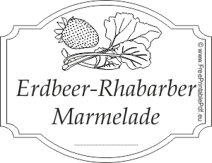 Erdbeer Rhabarber Marmelade Etiketten Zum Ausdrucken Pdf
