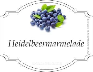 Etiketten F 252 R Heidelbeermarmelade Pdf Drucken Kostenlos
