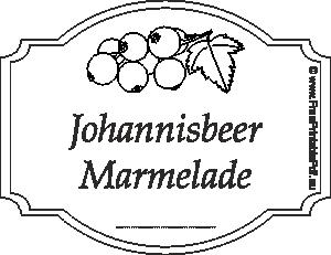 johannisbeer marmelade etiketten zum ausdrucken pdf drucken kostenlos. Black Bedroom Furniture Sets. Home Design Ideas