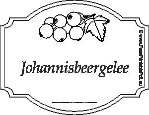 Etiketten Fur Johannisbeergelee Pdf Drucken Kostenlos
