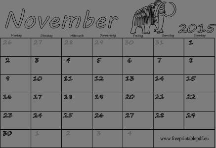 druckbare Kalender blank