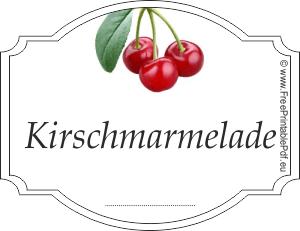 kirschmarmelade etiketten zum ausdrucken pdf drucken. Black Bedroom Furniture Sets. Home Design Ideas