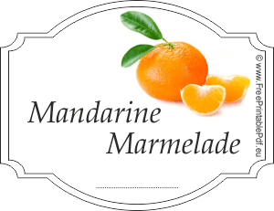 mandarine marmelade etiketten zum ausdrucken pdf drucken kostenlos. Black Bedroom Furniture Sets. Home Design Ideas