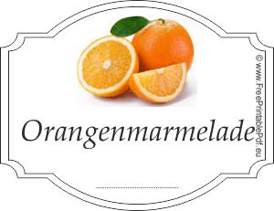 Orangenmarmelade etiketten zum ausdrucken   PDF Drucken ...