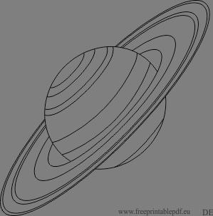 De Planet Saturn