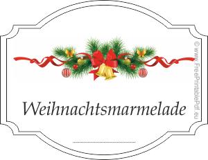 Etiketten F 252 R Weihnachtsmarmelade Zum Ausdrucken Pdf