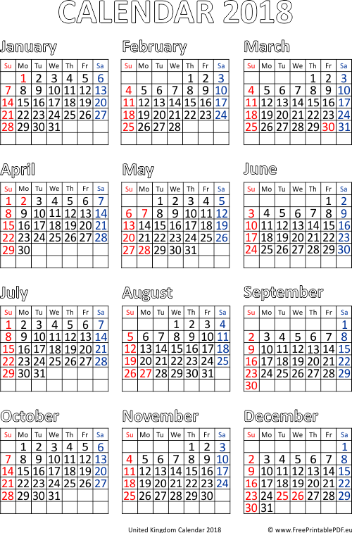 british 2018 calendar pdf