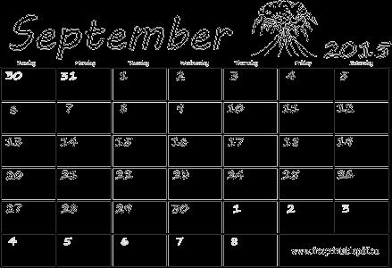 calendar blank 2015