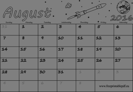 kids blank calendars
