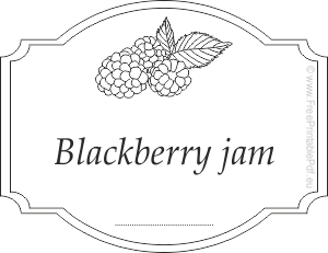 free blackberry jam labels for jars free printable pdf
