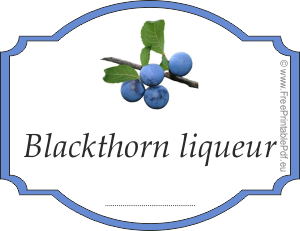 How to make labels for blackthorn liqueur