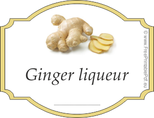 How to make labels for ginger liqueur