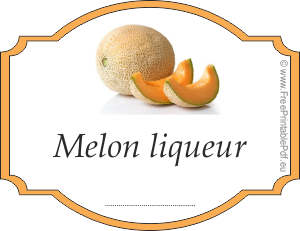 How to make labels for melon liqueur
