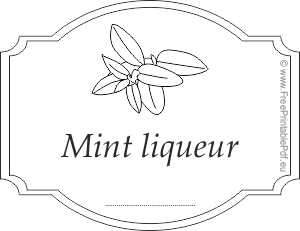 Mint Liqueur sticker