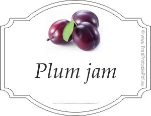 Plum jam labels Free Printable