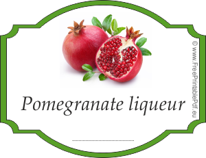 How to make labels for pomegranate liqueur