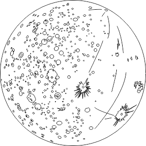 The planet mercury detailed coloring page free for Coloring pages mercury