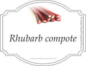rhubarb compote label