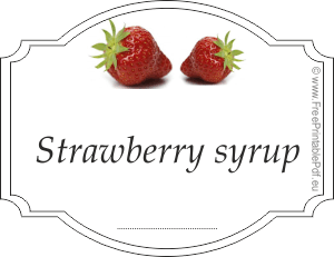 strawberry syrup label