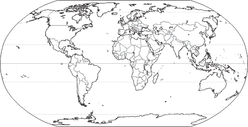 Outline World Map Countries Free Printable Pdf
