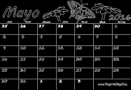 Mayo 2016 calendario pdf para niños y adultos   Imprimir el PDF Gratis