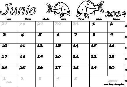 Calendario Junio 2019 Para Imprimir Imprimir El Pdf Gratis