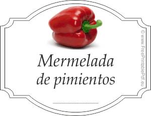 Etiquetas para mermelada de pimientas imprimir el pdf gratis - Como hacer mermelada de pimiento ...
