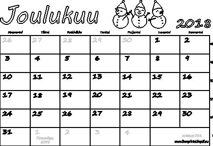 Joulukuu Kalenteri