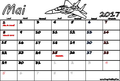 Calendrier pour mai 2017 impression | Gratuit PDF imprimable