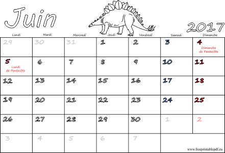 Juin 2017 calendrier pdf imprimable gratuit pdf imprimable - Calendrier du mois de juin 2017 ...
