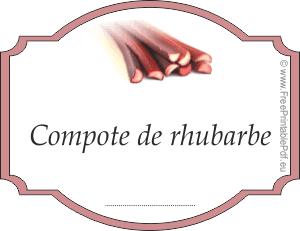 etiquettes pour compote de rhubarbe maison gratuit pdf imprimable. Black Bedroom Furniture Sets. Home Design Ideas