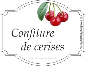 Etiquette Pour Confiture De Cerises Gratuit Pdf Imprimable