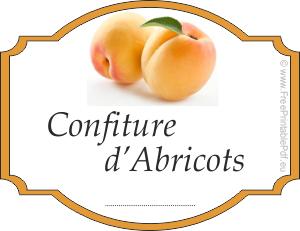 Etiquette confiture abricot ustensiles de cuisine - Confiture d abricots maison ...