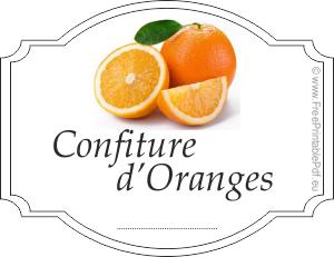 etiquette pour confiture d 39 orange gratuit pdf imprimable. Black Bedroom Furniture Sets. Home Design Ideas