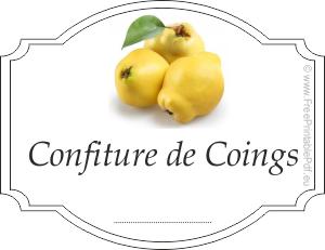 Etiquettes Pour Confiture De Coings Gratuit Pdf Imprimable