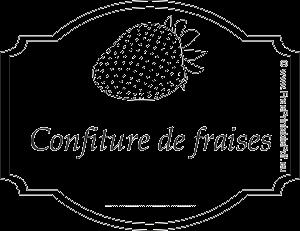 Etiquette Pour Confiture De Fraises Gratuit Pdf Imprimable