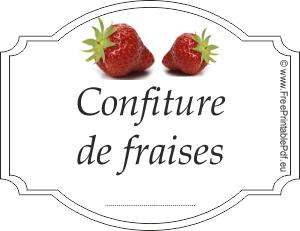 Etiquette confiture fraise