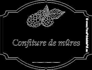 Etiquettes Pour Confiture De Mures Gratuites Gratuit Pdf Imprimable