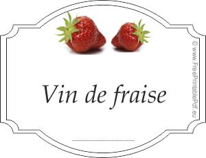 les tiquettes de vin de fraise gratuit pdf imprimable. Black Bedroom Furniture Sets. Home Design Ideas