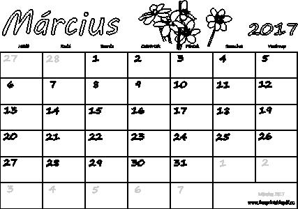 március naptár Naptár Március 2017 nyomtatható | Szabad fájlok PDF nyomtatás március naptár